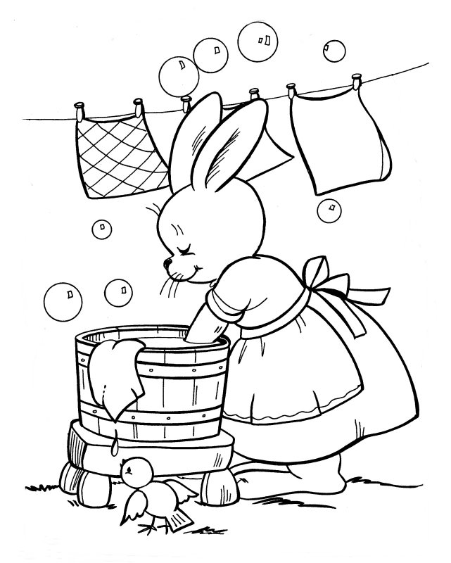 Free Coloring Pages Of Food Washing Pictures Washing Coloring Page