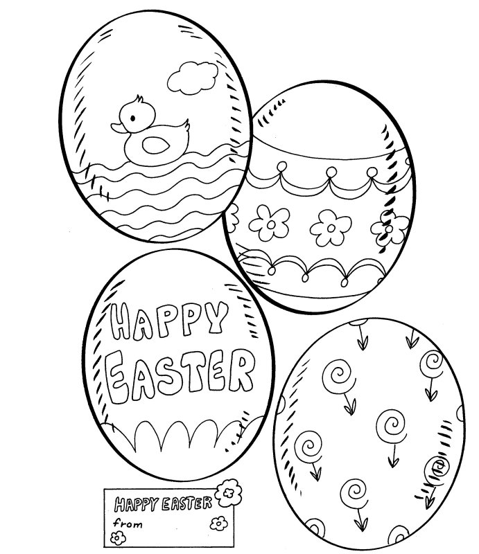 Easter Card More Coloring Pages