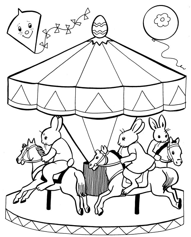 merry go round horse template - merry go round coloring pages coloring pages