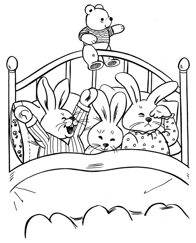 bed time coloring pages - photo #1