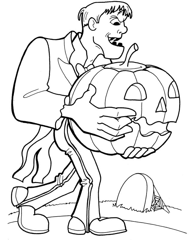 pin frankenstein coloring pages halloween monster mask on pinterest