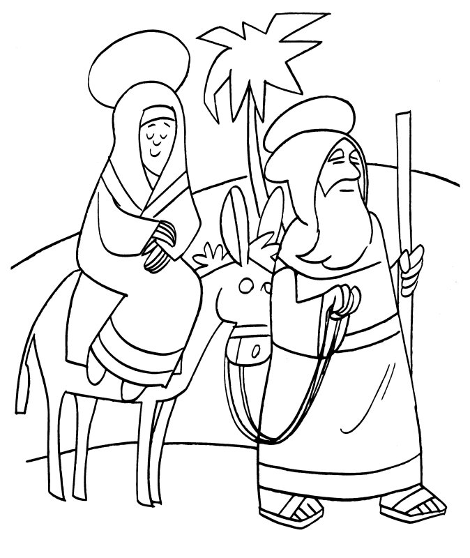 christmas coloring pages joseph mary