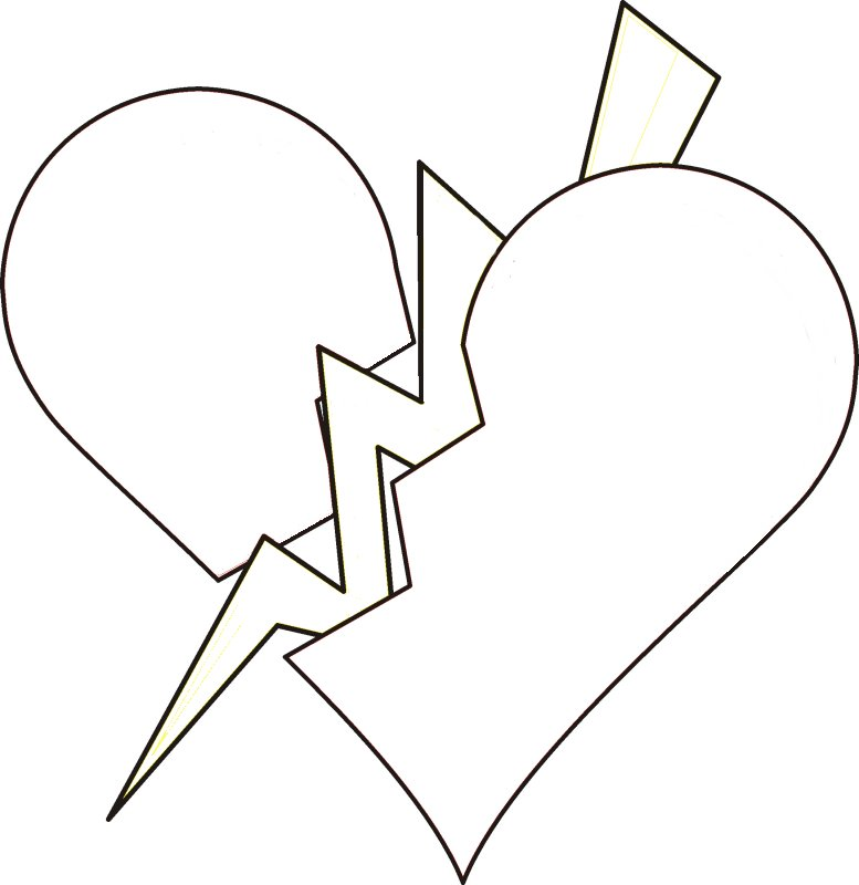 broken heart - Love Coloring Pages Teenagers