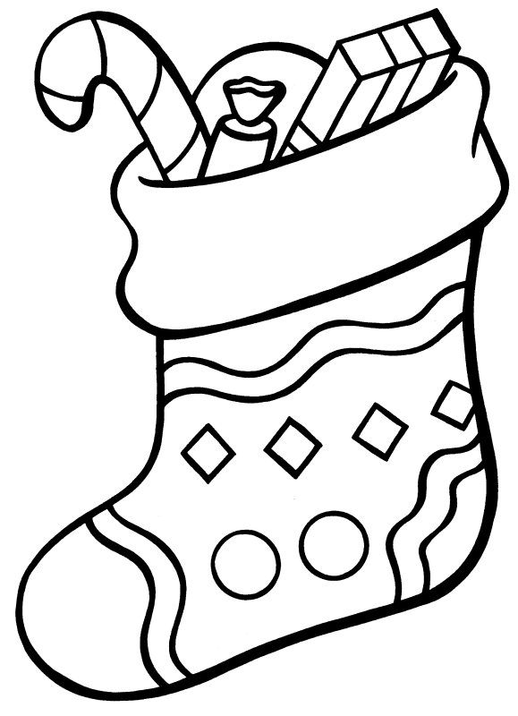 christmas stocking more coloring pages - Coloring Pages Christmas Stocking