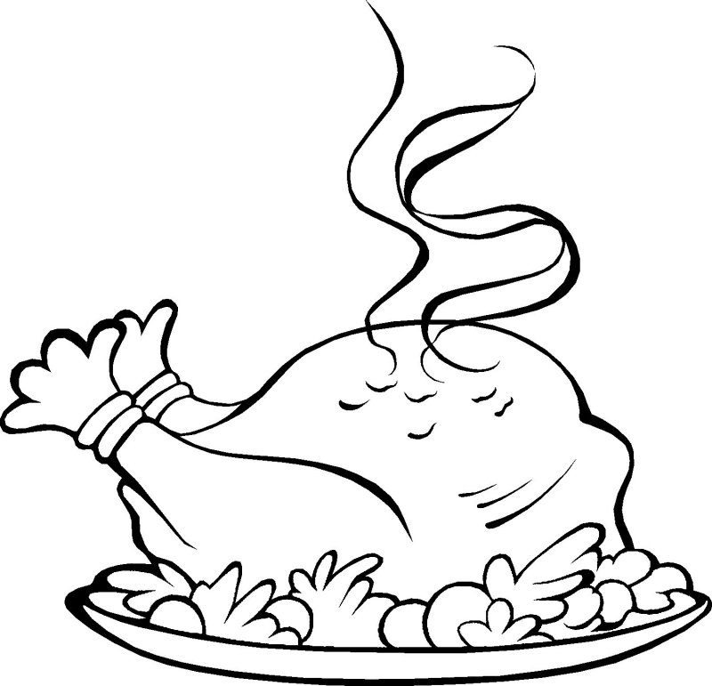 coloring pages dinner - photo#11