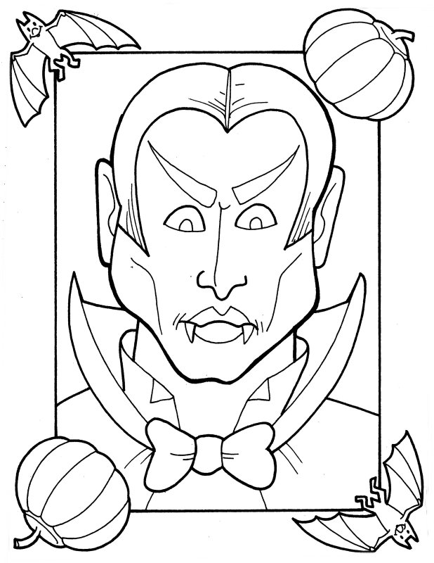 Dracula. More Coloring Pages ...