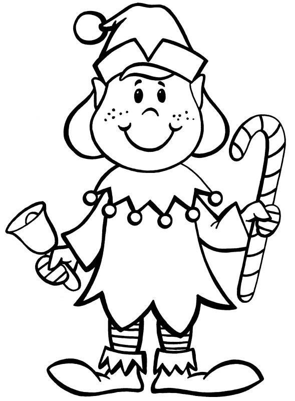santa and elves coloring pages - photo#31