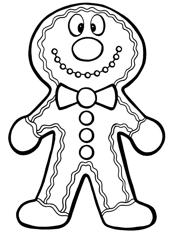 ginger man coloring pages - photo#36
