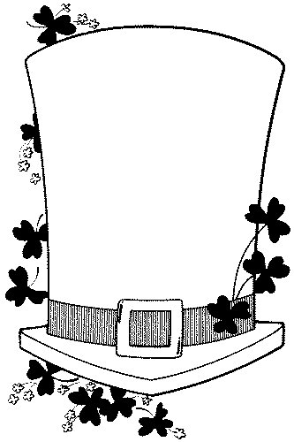 Saint patrick 39 s day coloring page for Leprechaun hat coloring page