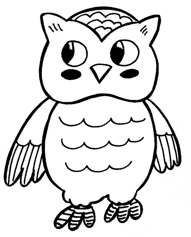 a owl coloring pages - photo #42