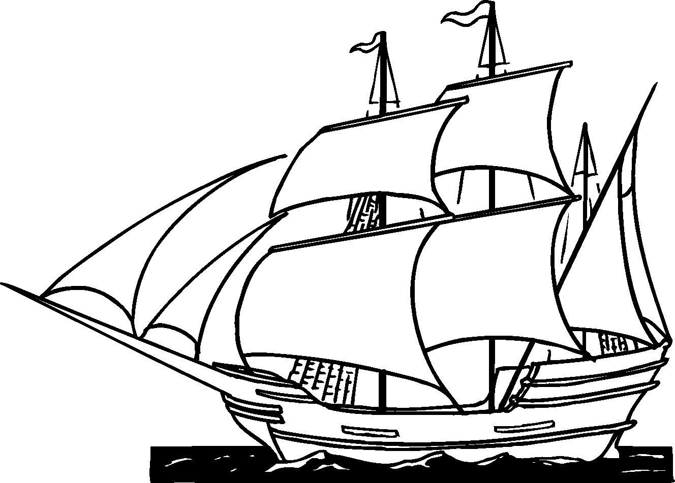 pin pirate ship coloring pages sail site pictures on pinterest