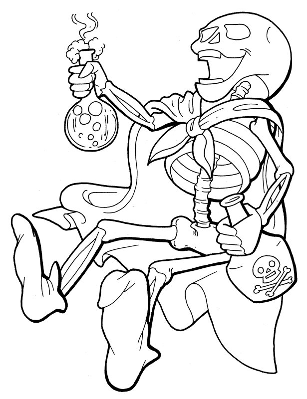 skeleton more coloring pages