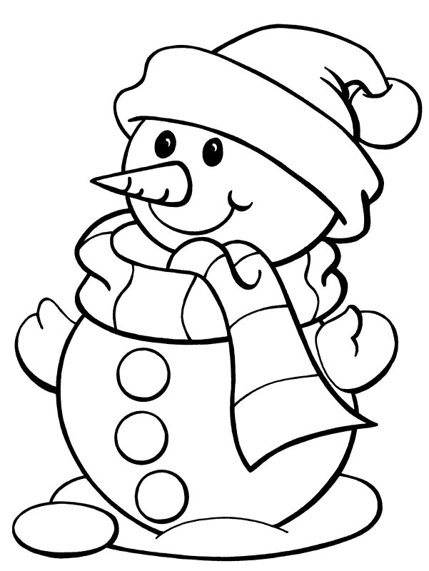 Snowman More Coloring Pages