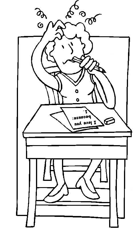 girl thinking more coloring pages - Thinking Of You Coloring Pages