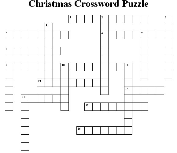 Christmas Crossword Puzzle.Christmas Crossword Puzzle