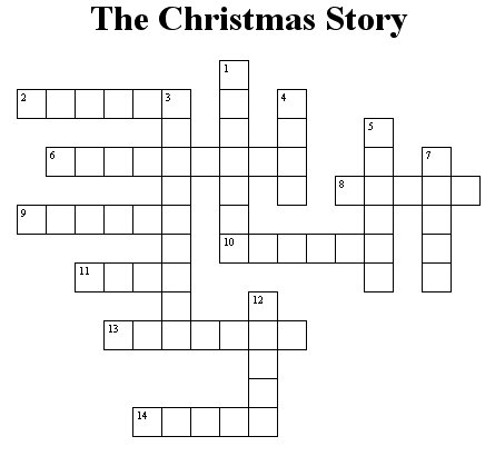 Christmas Crossword.Christmas Crossword Puzzle