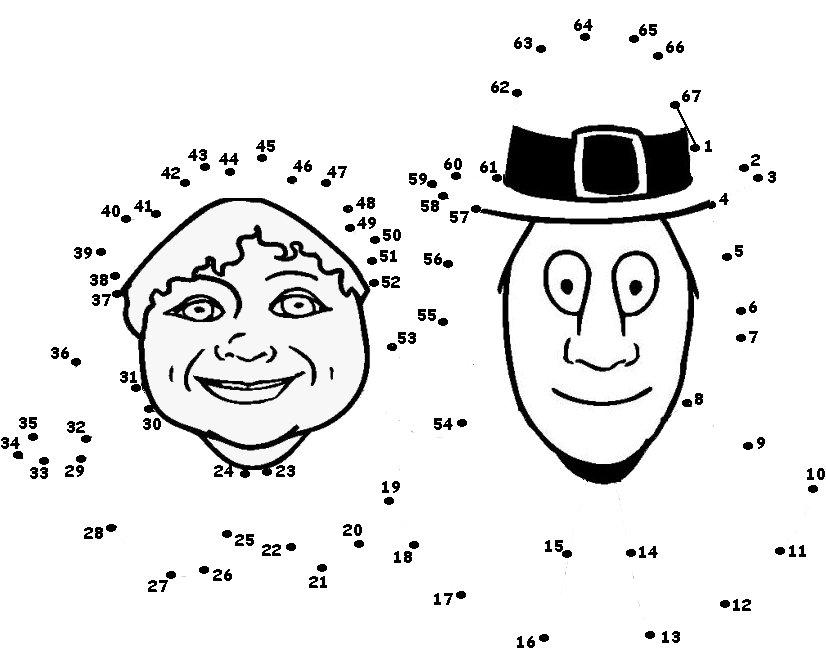 Thanksgiving Dot To Dot Worksheets