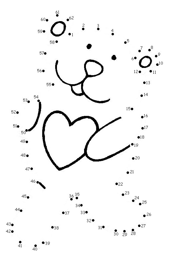valentine connect the dots coloring pages - photo #7